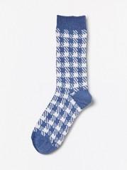 Mønstrede strikkesokker Blå