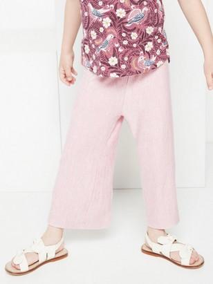 Pink fine knit culottes Pink