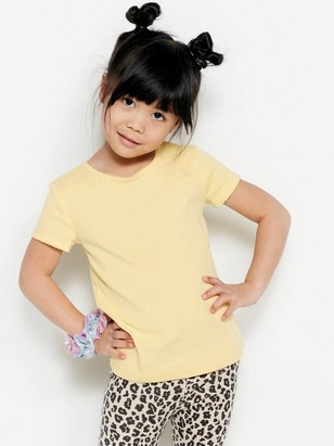 Top with Pointelle and Picot Yellow