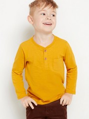 Long sleeve cotton top  Yellow