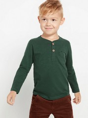 Long sleeve cotton top  Green