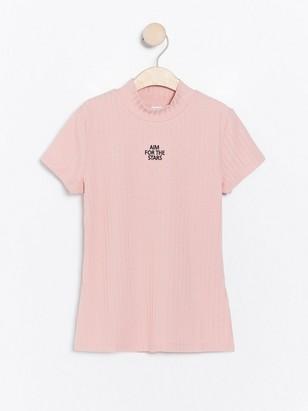 Žebrovaný top Růžová