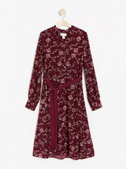 Burgundy long sleeve dress  Red