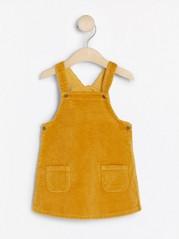 Manšestrové šaty slaclem Žlutá