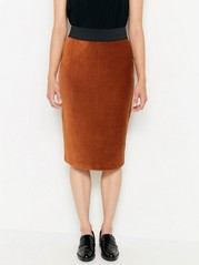 Corduroy pencil skirt  Brown
