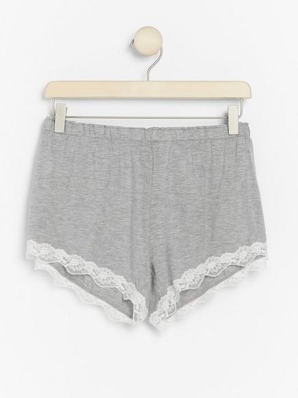 Šedé pyžamové šortky ze směsi lyocellu Šedivá