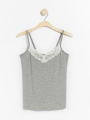 Grey night camisole in lyocell blend  Grey