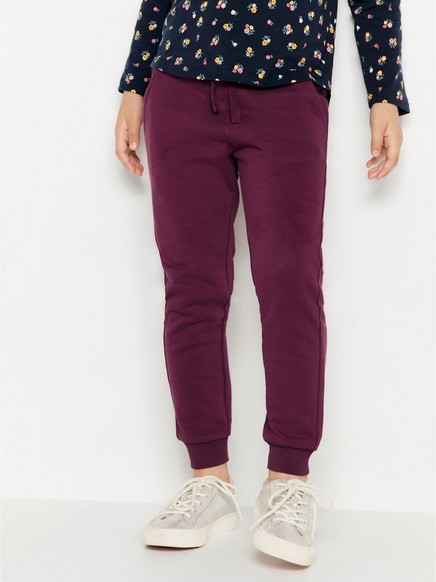 Lilac sweatpants with brushed inside Red