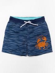 Proužkované plavecké šortky Modrá