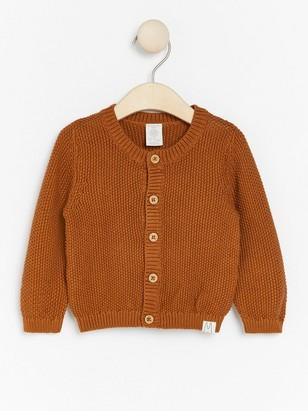 Moss knit cardigan Brown