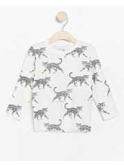Long sleeve top with animal pattern White