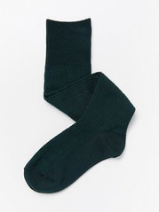 Cable-knit knee highs  Green