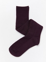 Cable-knit knee highs  Lilac