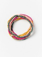 Multipack Bead Bracelets  Pink