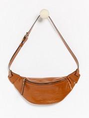 Croco patterned bum bag  Brown
