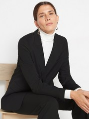 Blazer with relaxed silhouette Black