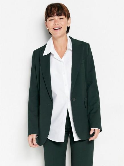 Blazer med ledig silhuett Grønn