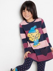 Long sleeve tunic with Bamse print Pink