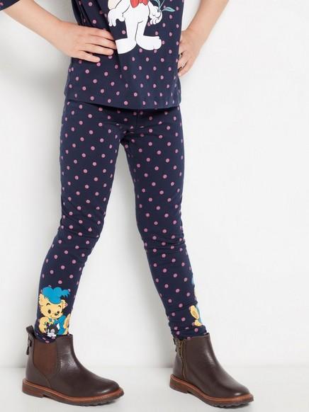Mønstrede leggings med Bamse-trykk Blå