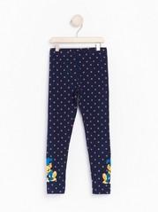 Kuviolliset leggingsit, joissa on Bamse-painatus Sininen