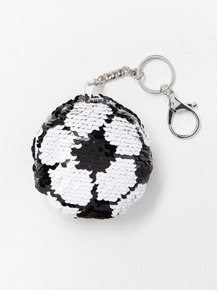 Keychain with reversible sequins Black