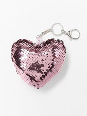 Keychain with reversible sequins Pink
