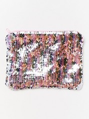 Bag with reversible sequins Pink