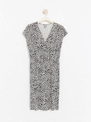Šaty sleopardím vzorem Šedivá