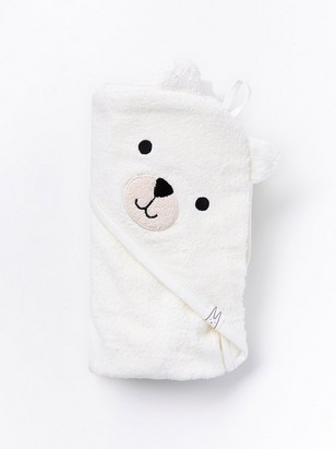 White terry bath towel White