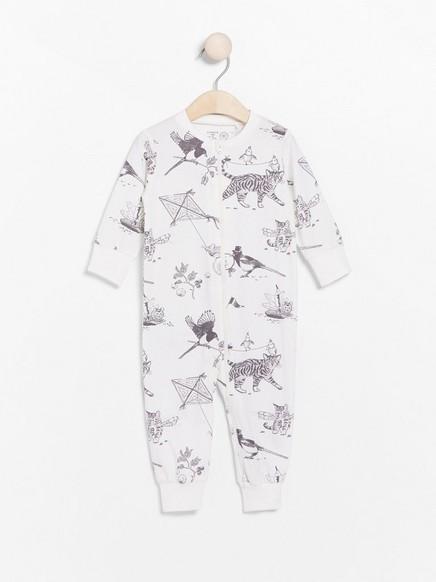 Pyjamas with animal pattern White