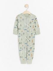 Pyžamo se zvířátky Zelená
