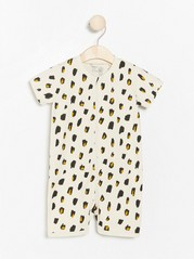 Pyjamas with leopard print Beige