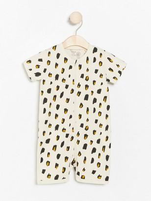 Pyjamas med leopardmönster Beige