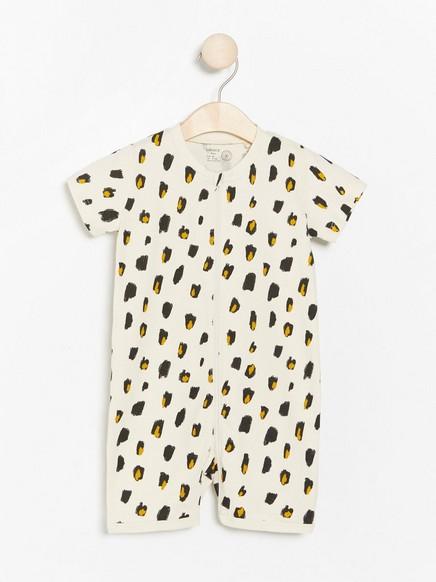 Pyjamas med leopardtrykk Beige