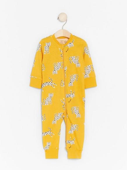 Pyjamas with white leopards Yellow