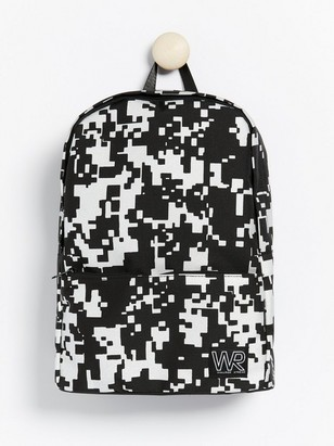 Backpack with reflective print Black