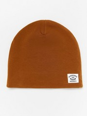Jersey cap with fleece lining Brown
