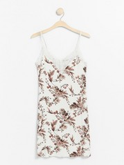 White night dress with flowers  White