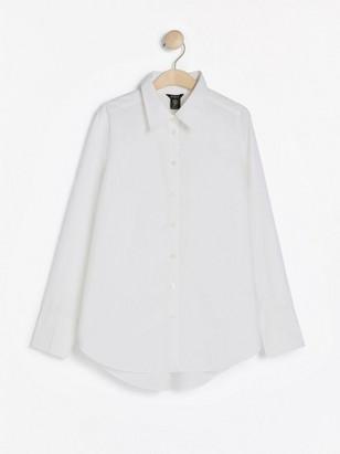 Bílá bavlněná košile Bílá