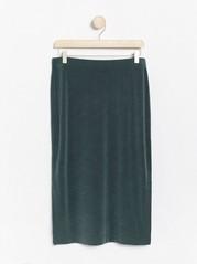 Ribbed midi skirt  Green