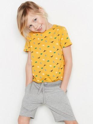 Tričko sdinosaury Žlutá