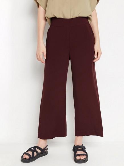 LYKKE – vid bukse i burgunder Rød