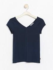 Navy blue v-neck top  Blue