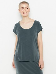 Ribbed short sleeve top  Green