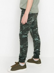 Sweatpants with Abstract Pattern Khaki