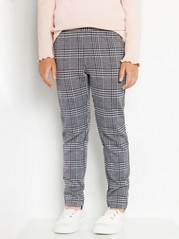 Checked leggings in grey and black Black