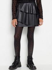 Koženková sukně Černá