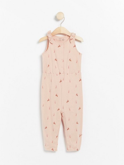 Pink jumpsuit with rabbits Pink