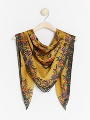 Floral scarf  Yellow