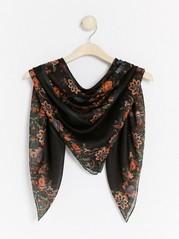 Floral scarf  Black
